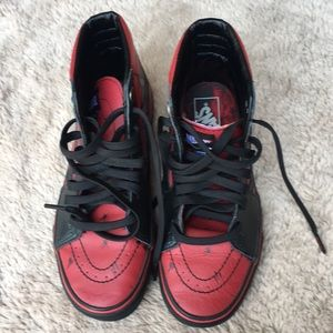 Vans Sk-8 high tops Marvel Deadpool edition